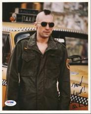Robert Deniro Taxi Driver Signed 8x10 Photo Psa/dna #u70129