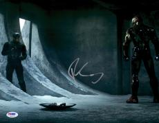 "Robert Downey JR. Autographed 11"" x 14"" Captain America vs. Iron Man Photograph - PSA/DNA"