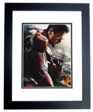 Robert Downey Jr Signed - Autographed IRON MAN Avengers 8x10 Photo BLACK CUSTOM FRAME