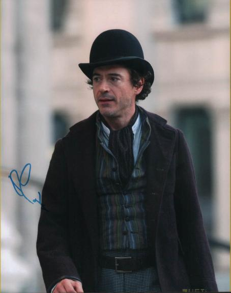 Robert Downey Jr. Autographed Signed 11x14 Sherlock Photo AFTAL