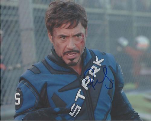 "ROBERT DOWNEY JR. in ""IRON MAN"" as TONY STARK/IRON MAN - Signed 10x8 Color Photo"