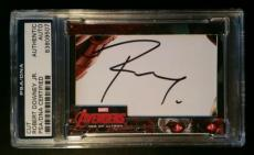 Robert Downey Jr Iron Man Avengers Age of Ultron 2015 UD Signed AUTO PSA/DNA