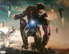Robert Downey Jr Iron Man Stan Lee Mr Marvel Dual Signed 11x17 Photo PSA/DNA