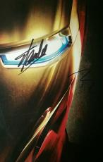 Robert Downey Jr Iron Man Stan Lee Mr Marvel Dual Signed Movie Poster PSA/DNA