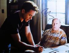 Robert Downey Jr  Robert Duvall Signed Autographed 11X14 Photo The Judge 793607