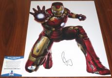 Robert Downey Jr Signed 11x14 Iron Man Avengers Marvel Tony Stark BAS Beckett
