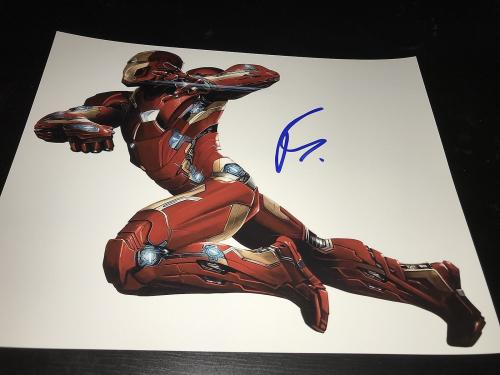 ROBERT DOWNEY JR SIGNED AUTOGRAPH 8x10 PHOTO IRONMAN AVENGERS IN PERSON COA I