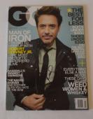Robert Downey Jr. Signed Autographed GQ Magazine Iron Man COA VD