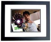 Robert Downey Jr Signed - Autographed Iron Man Avengers - Tony Stark 11x14 inch Photo BLACK CUSTOM FRAME - Guaranteed to pass PSA or JSA