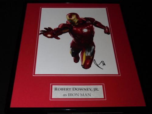 Robert Downey Jr Signed Framed 16x20 Iron Man Photo Poster Display AW