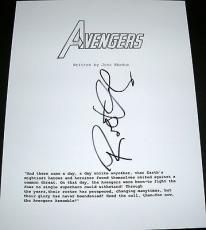 "Robert Downey Jr. Signed Rare Full Name Autograph ""avengers"" Movie Script Coa"