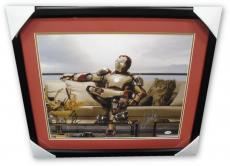 Robert Downey Jr Stan Lee Autographed 16X20 Photo Iron Man PSA/DNA Framed U36057