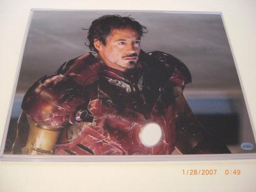 Robert Downeyjr Iron Man Famous Actor Td/holo Signed 11x14 Photo