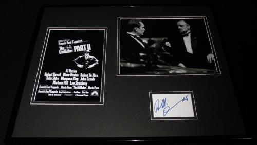 Robert Duvall Signed Framed 16x20 Godfather Photo Display JSA w/ Marlon Brando