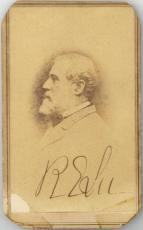 Robert E. Lee Signed Autographed 2x3.5 CDV Photograph Beckett BAS