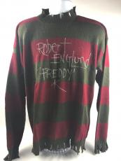Robert England Signed Autograph Freddy Krueger Nightmare on Elm Sweater COA 2
