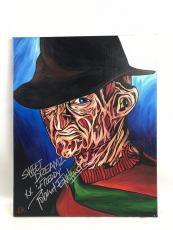 Robert Englund 16x20 Autograph Original Art Canvas BAS Signed Freddy Krueger 2