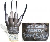 "Robert Englund ""42 Kills, Freddy"" Signed Metal Freddy Krueger Glove BAS Witness"
