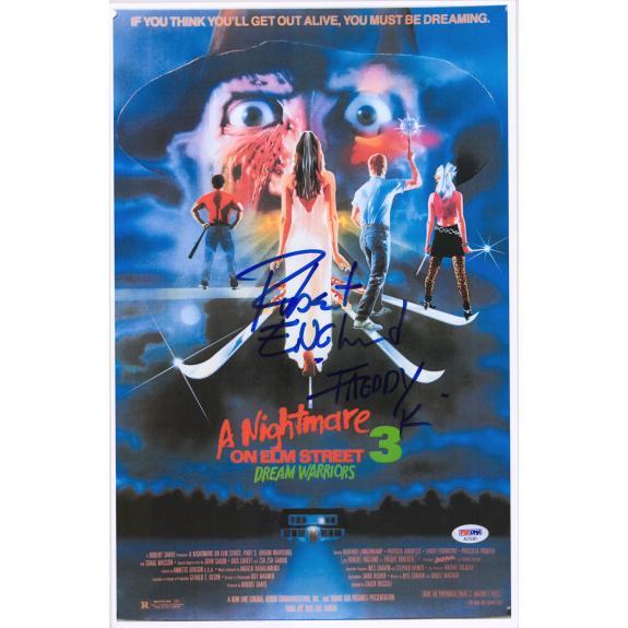 "Robert Englund A Nightmare On Elm Street Dream Warriors Autographed 12"" x 18"" Movie Poster - PSA"