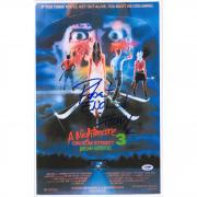 "Robert Englund A Nightmare On Elm Street Dream Warriors Autographed 12"" x 18"" Movie Poster - PSA"