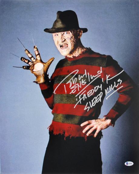 Robert Englund A Nightmare On Elm Street Signed 16x20 Photo BAS Witnessed I64402