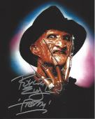 "ROBERT ENGLUND as FREDDY KRUEGER in ""NIGHTMARE on ELM STREET"" Film Series - Signed 8x10 Color Photo"
