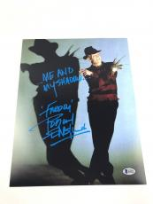 Robert Englund Autograph Freddy Krueger 11x14 Photo BAS Nightmare on Elm #I64293
