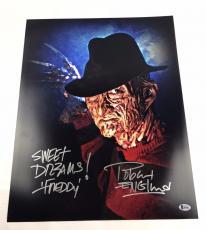 Robert Englund Autograph Freddy Krueger 16x20 Photo Nightmare on Elm BAS #I64441