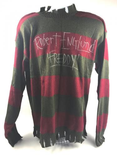 Robert Englund Autograph Freddy Krueger Nightmare on Elm Sweater Signed JSA COA