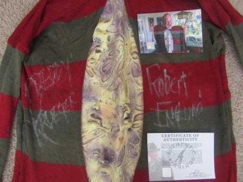 Robert Englund Autographed Freddy Krueger Shirt Ssg Coa