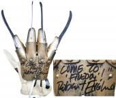 "Robert Englund ""Come To Freddy"" Signed Deluxe Deluxe Freddy Krueger Glove BAS"