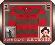 ROBERT ENGLUND FRAMED AUTOGRAPHED FREDDY KRUEGER SWEATER w/ PRISTINE COA