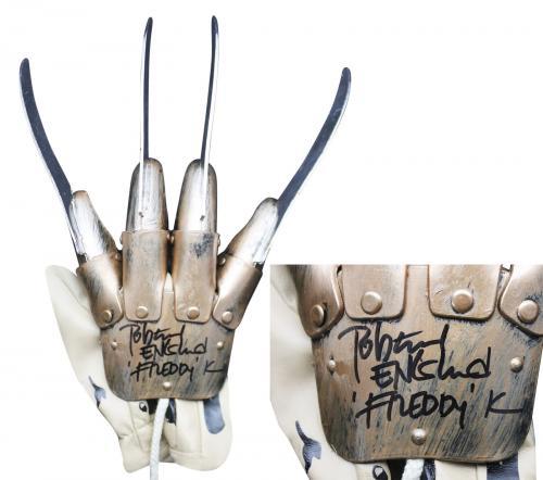 "Robert Englund ""Freddy K"" Signed Deluxe Freddy Krueger Glove Beckett Witnessed"