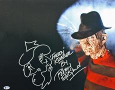 """Robert Englund """"Freddy Krueger"""" Signed 16X20 Photo w/ Sketch BAS #I64610"""