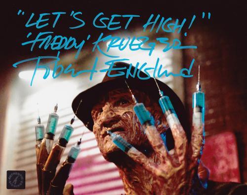 "Robert Englund ""Freddy Krueger"" Signed 8x10 Photo ""Let's Get High"" Inscription"