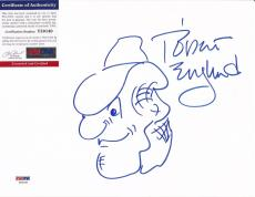 "Robert Englund ""freddy Krueger"" Signed Auto Hand Draw Sketch 8x10 Psa/dna Coa B"