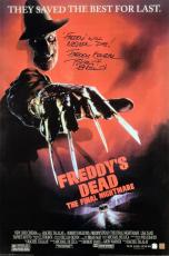 "Robert Englund ""Freddy Krueger"" Signed Freddys Dead 24x36 Movie Poster ""Freddy Will Never Die"" Inscription"