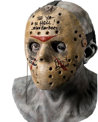 "Robert Englund ""Freddy Krueger"" Signed Jason Voorhees Hockey Mask B"