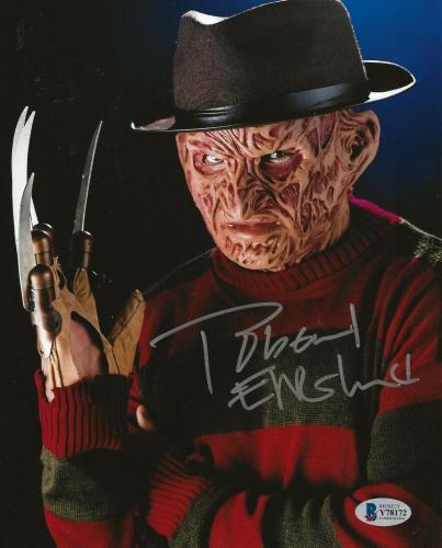 Robert Englund Freddy Krueger signed Nightmare on Elm Street 8x10 photo Beckett