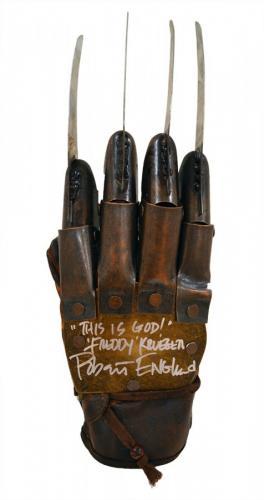 "Robert Englund ""Freddy Krueger"" Signed NOES Part 3 Freddy Krueger Metal Glove With ""This Is God"" Inscription"