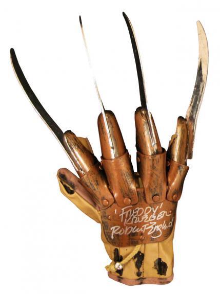 """Robert Englund """"Freddy Krueger"""" Signed Plastic Blades Glove"""
