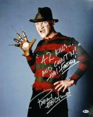 "Robert Englund Friday The 13th ""42 Kills! And Count'n!"" Signed 16x20 Photo BAS"