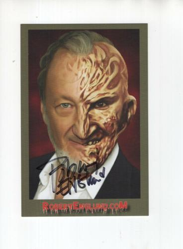 ROBERT ENGLUND HAND SIGNED 4x6 COLOR PHOTO+COA            FREDDY KRUEGER