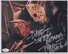 ROBERT ENGLUND HAND SIGNED 8x10 COLOR PHOTO      FREDDY KRUEGER   TO DAVE    JSA