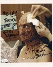 ROBERT ENGLUND HAND SIGNED 8x10 COLOR PHOTO    LAST FREDDY KRUEGER MAKE-UP   JSA