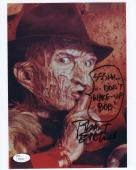 ROBERT ENGLUND HAND SIGNED 8x10 COLOR PHOTO     FREDDY KRUEGER    TO BOB     JSA
