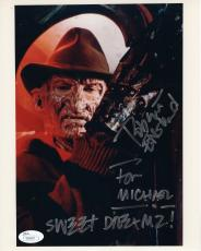 ROBERT ENGLUND HAND SIGNED 8x10 PHOTO   NIGHTMARE ELM STREET   TO MICHAEL    JSA