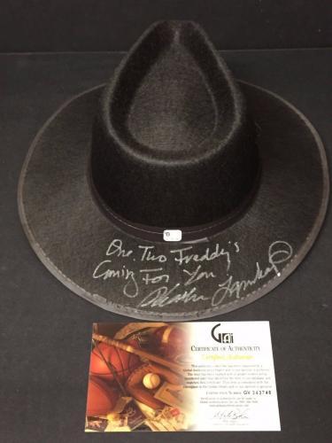 Robert Englund Heather Langenkamp A Nightmare on Elm Street Signed Autograph Hat