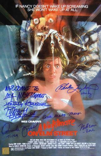 Robert Englund, Heather Langenkamp, Ronee Blakley, Amanda Wyss & Nick Corri Nightmare Elm On Street Cast Autographed 11x17 Movie Poster