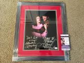 Robert Englund Heather Langenkamp Signed 11x14 Photo Framed JSA Coa